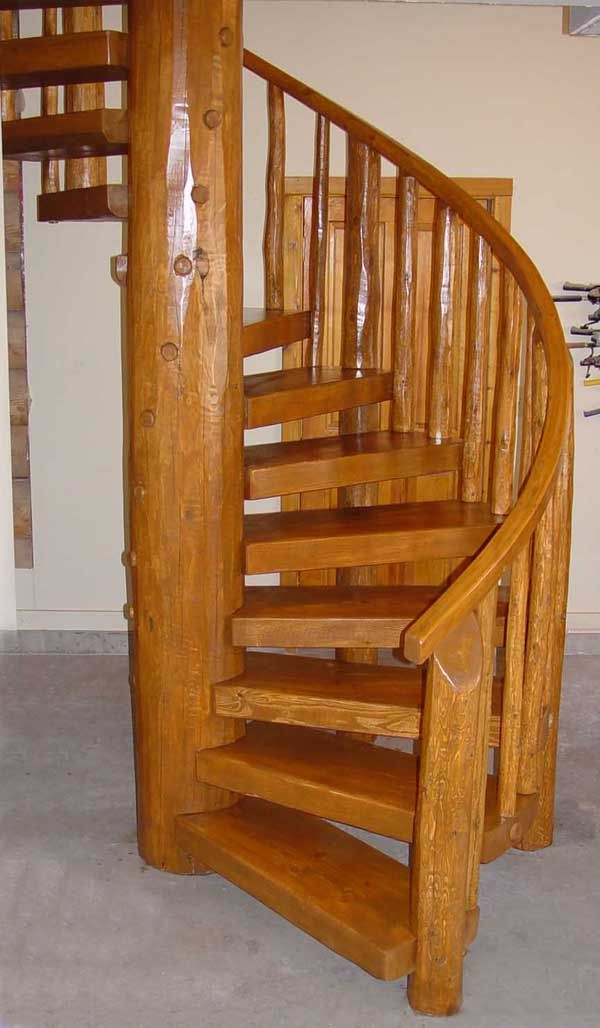Spiral Stairway Log Spiral Staircases Rustic Lodge