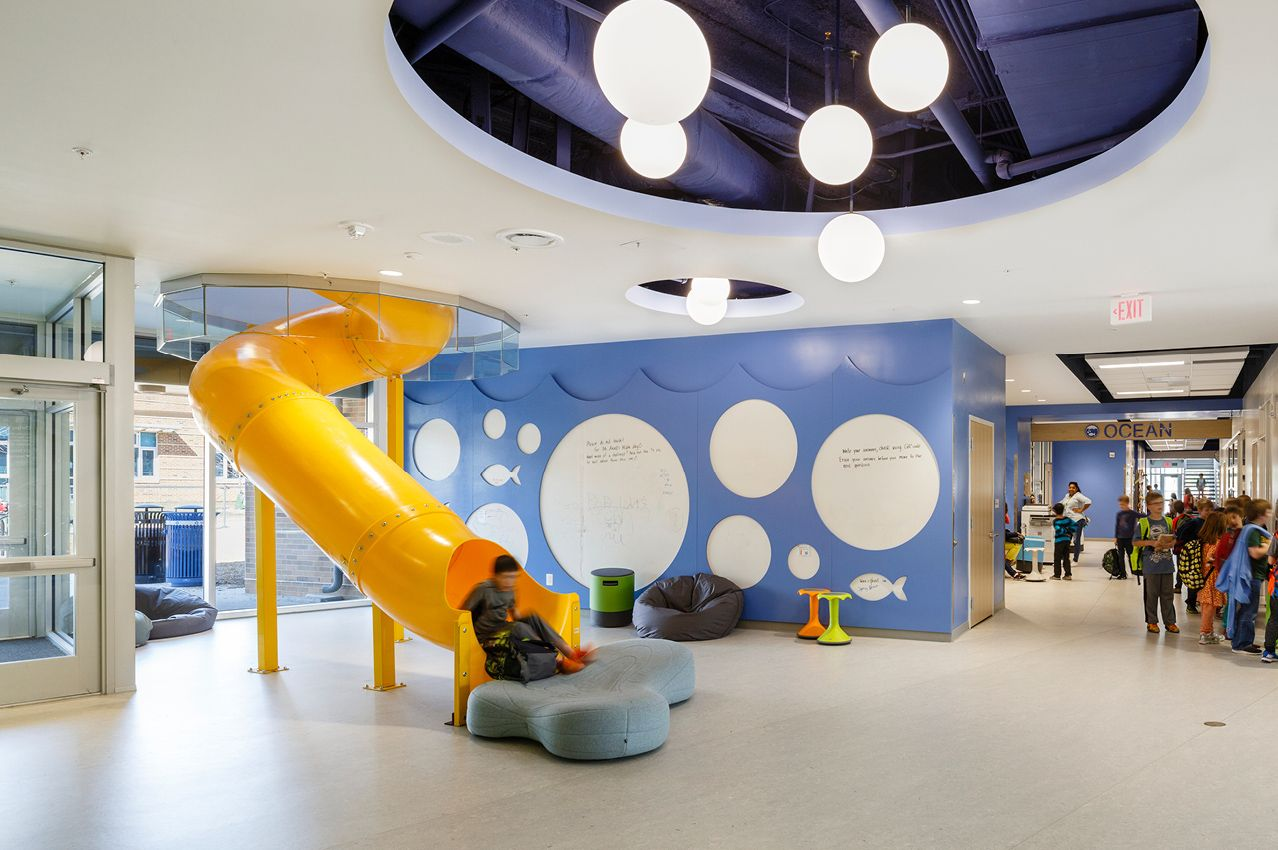 Discovery Elementary School, Arlington, VA | MDVO| Interiors, Slide