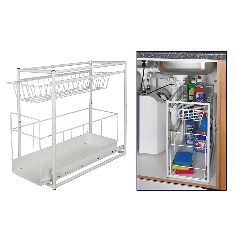Under Sink Storage Rack Kitchen Unit Bathroom Cupboard Tidy 2 Tier Organiser By Tp Products It Casa E Cucina
