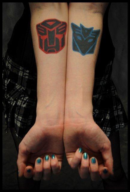 Autobot and Decepticon symbols. Love them. | Love ...