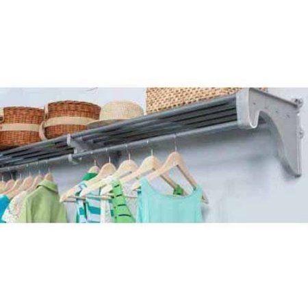 EZ Shelf 28 Inch 49 Inch Expandable Closet Shelf And Rod, Silver, 1
