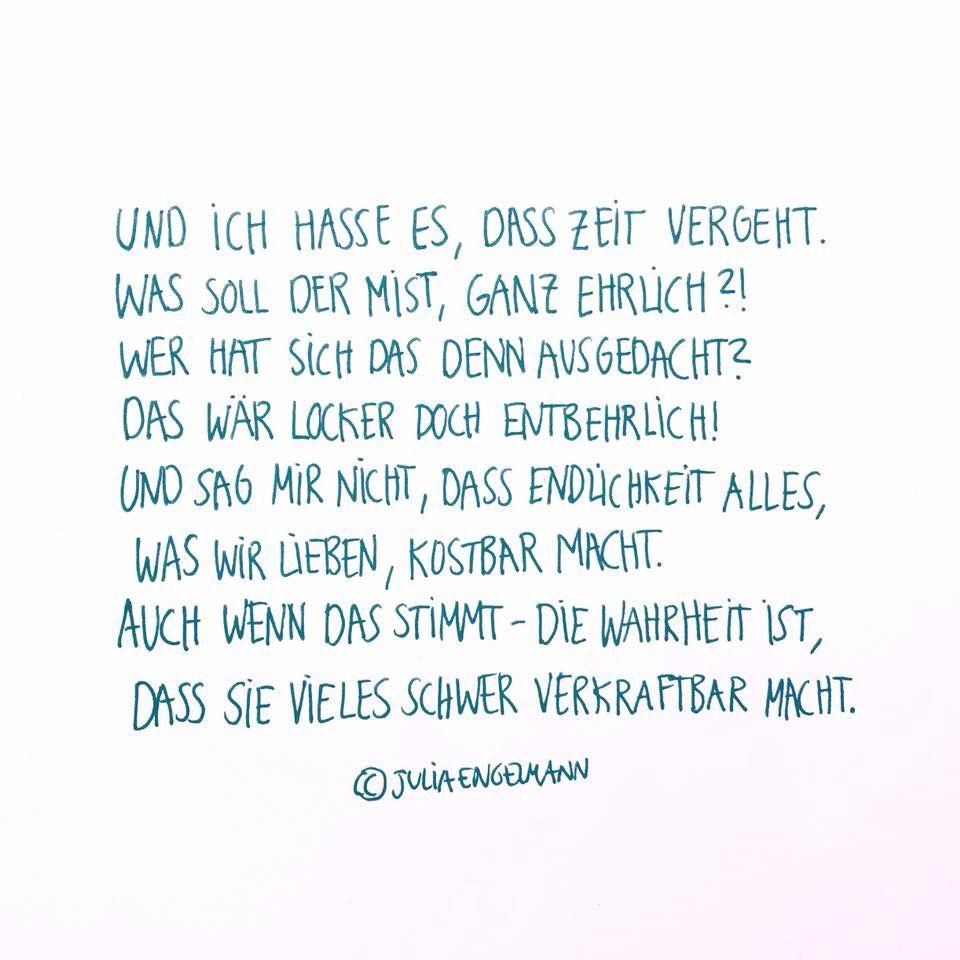 Zeit Vergeht Julia Engelmann Sprüche Pinterest Quotes