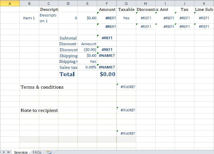 blank paypal invoice template in excel Excel Templates - Invoice Template Excel 2010