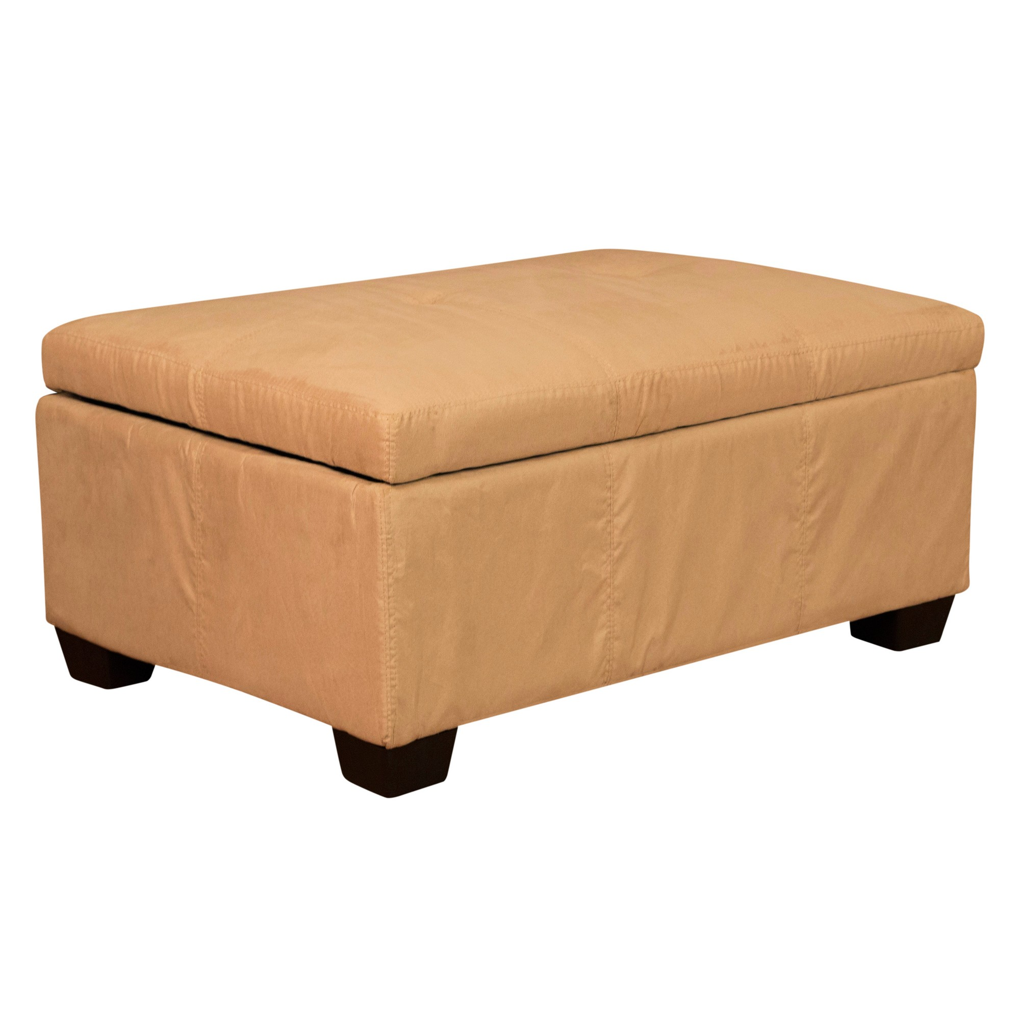 Magnificent Heirloom Tufted Padded Hinged Ottoman Suede Epic Short Links Chair Design For Home Short Linksinfo