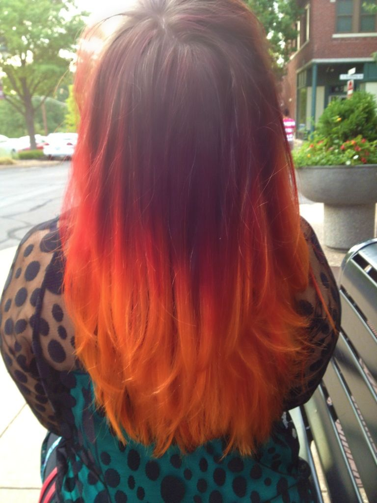 Fire Ombre Hair Hair Pinterest Hair Hair Colour And Ombre Hair