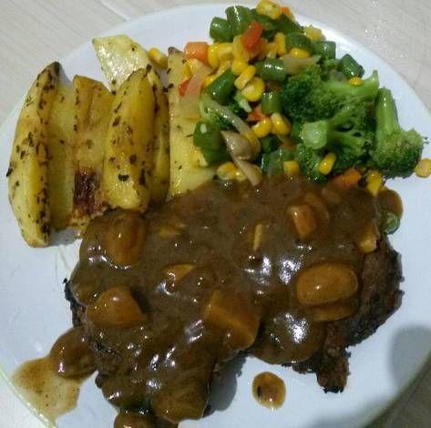 Resep Steak Beef Saos Jamur Blackpaper Oleh Anna Marbun Resep Resep Steak Jamur Resep
