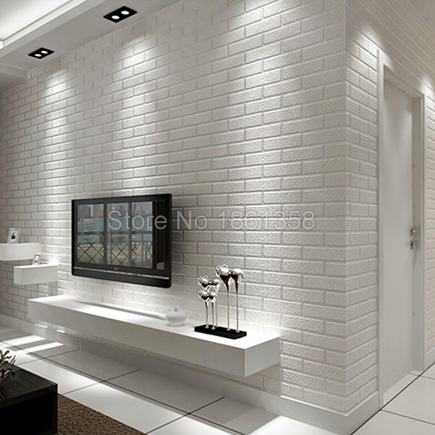 Ladrillos Pintados De Blanco