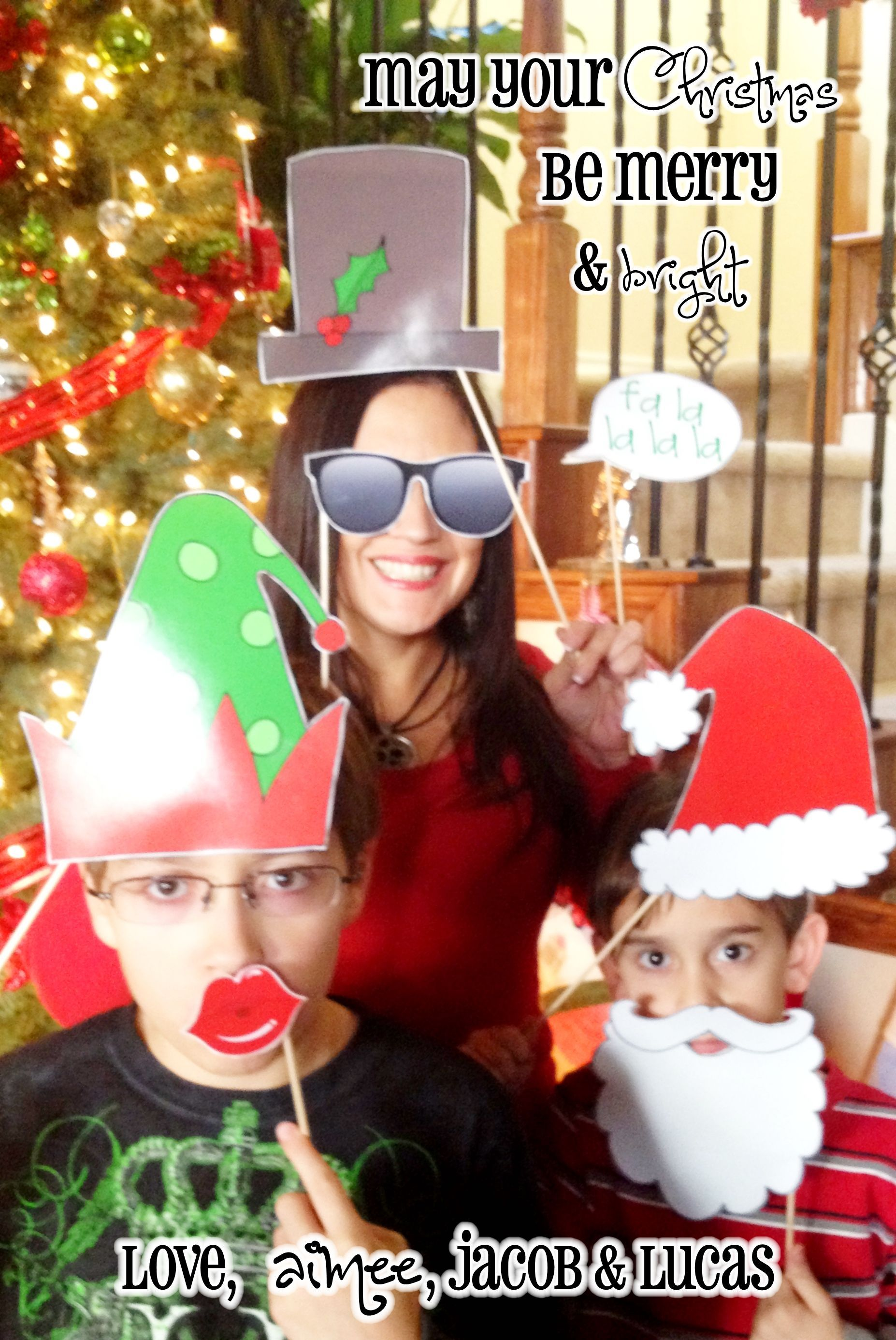 Christmas Photo Booth Props | Christmas Card ...