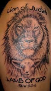 Lion Of Judah Lamb Of God Tatoo Lamb Tattoo God Tattoos Tattoos