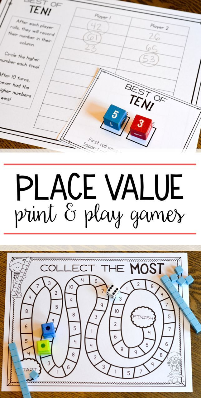 print  play  learn  place value games first grade