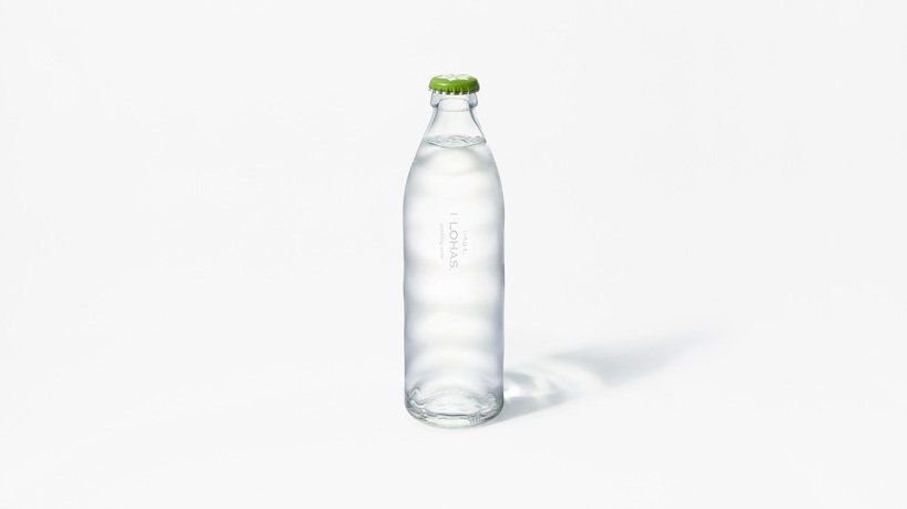 Nendo Creates Glass Bottle Capturing The Ripples Of Natural Spring