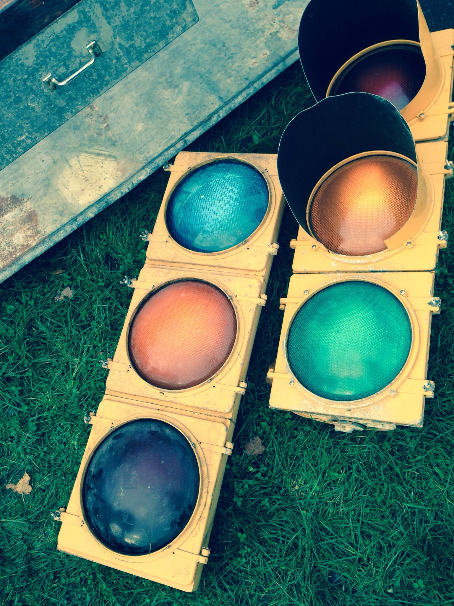 Vintage American traffic lights at Ardingly antiques fair: www.iacf.co.uk/Ardingly