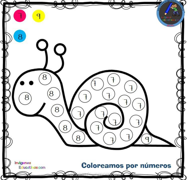 Fichas para colorear por letras, números y símbolos   Pinterest ...
