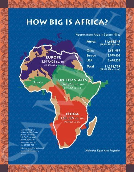 The Real Size Of Africa As Reflected By The Peteru0027s Projection Map And Not  The False Mercator Map.