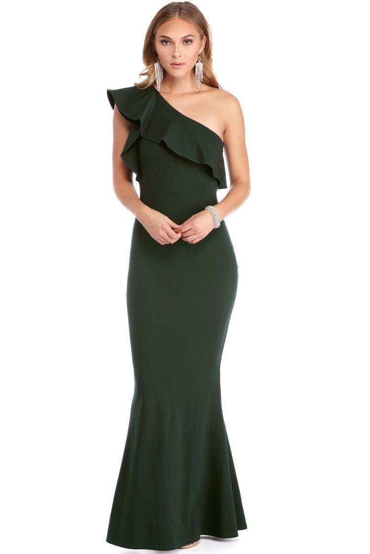 Formal one shoulder dresses for cheap