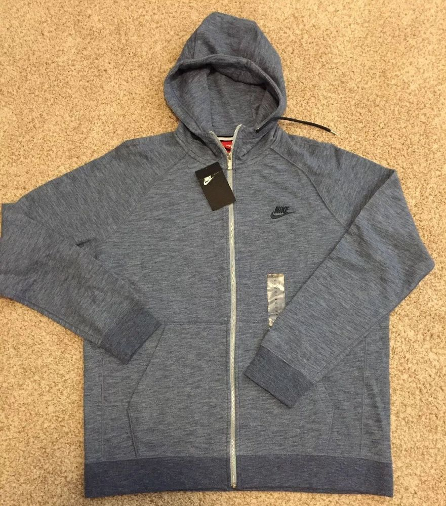 purchase cheap afcf3 ec4ae Nike Sportswear Legacy Men s Hoodie HEATHER BLUE Gym New  90 805057 401 -Sz  XL-