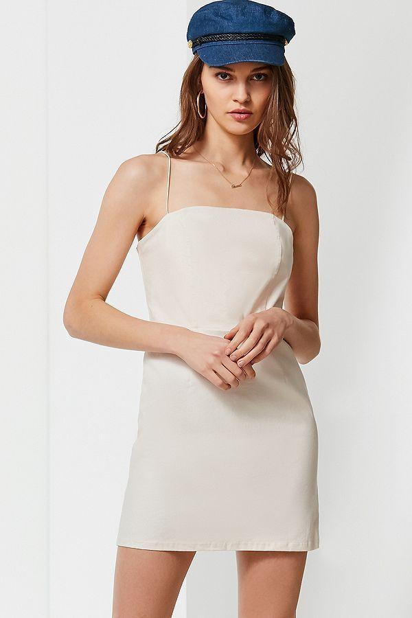 b69c65d5d49 UO Colette Stretch Linen Mini Dress