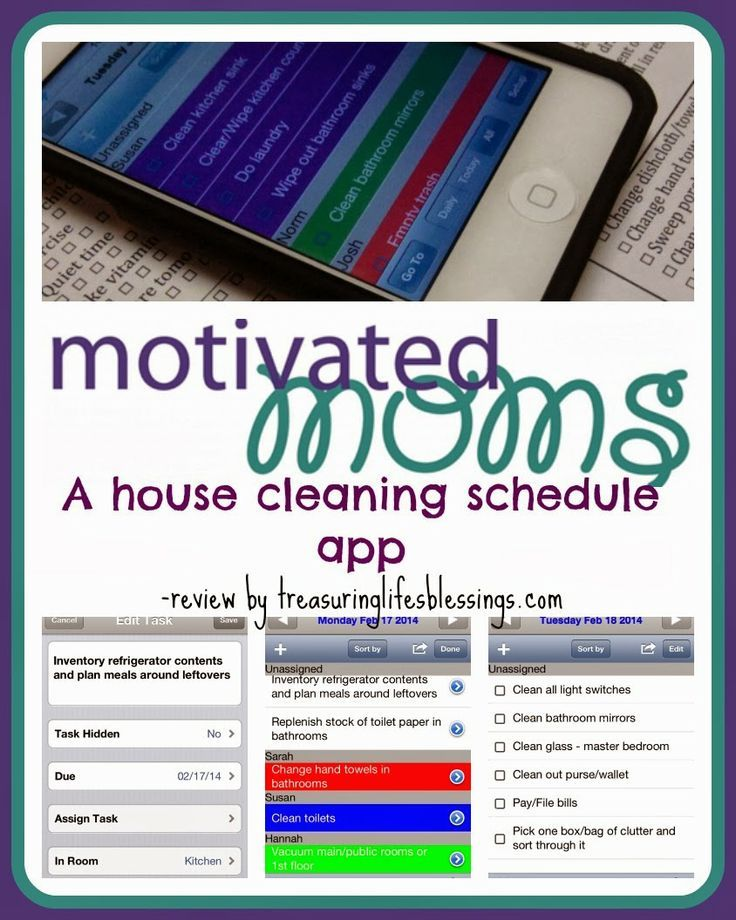 Motivated Moms iOS App Review House cleaning app