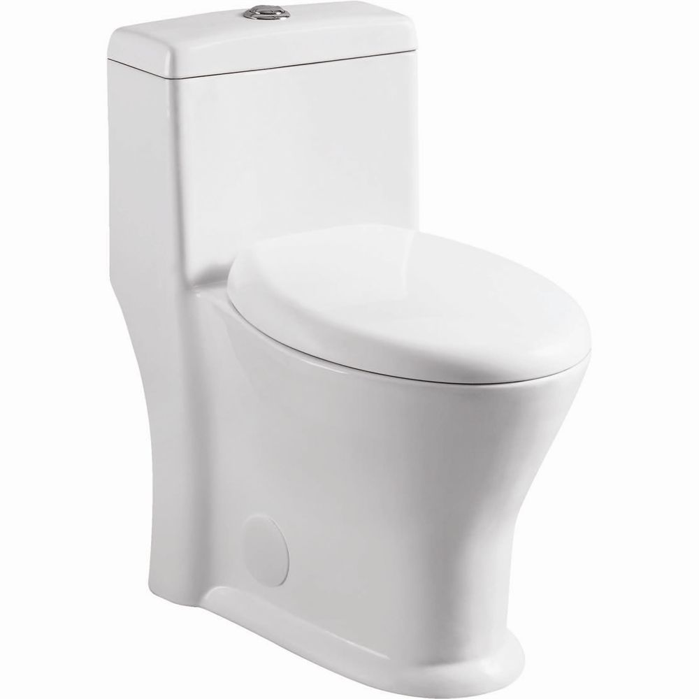 Incredible Uberhaus Round Front 1 Piece Dual Flush Toilet Lowes Gamerscity Chair Design For Home Gamerscityorg