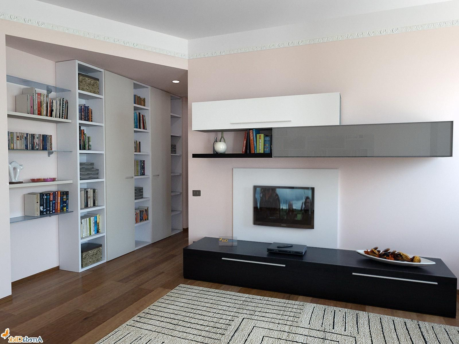 newest 668d6 c67ee Minimalist modern tv cabinet with wall mounting shelf | Wall ...