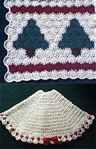 Free Christmas Tree Skirt Crochet Pattern Yo Yo Afghan