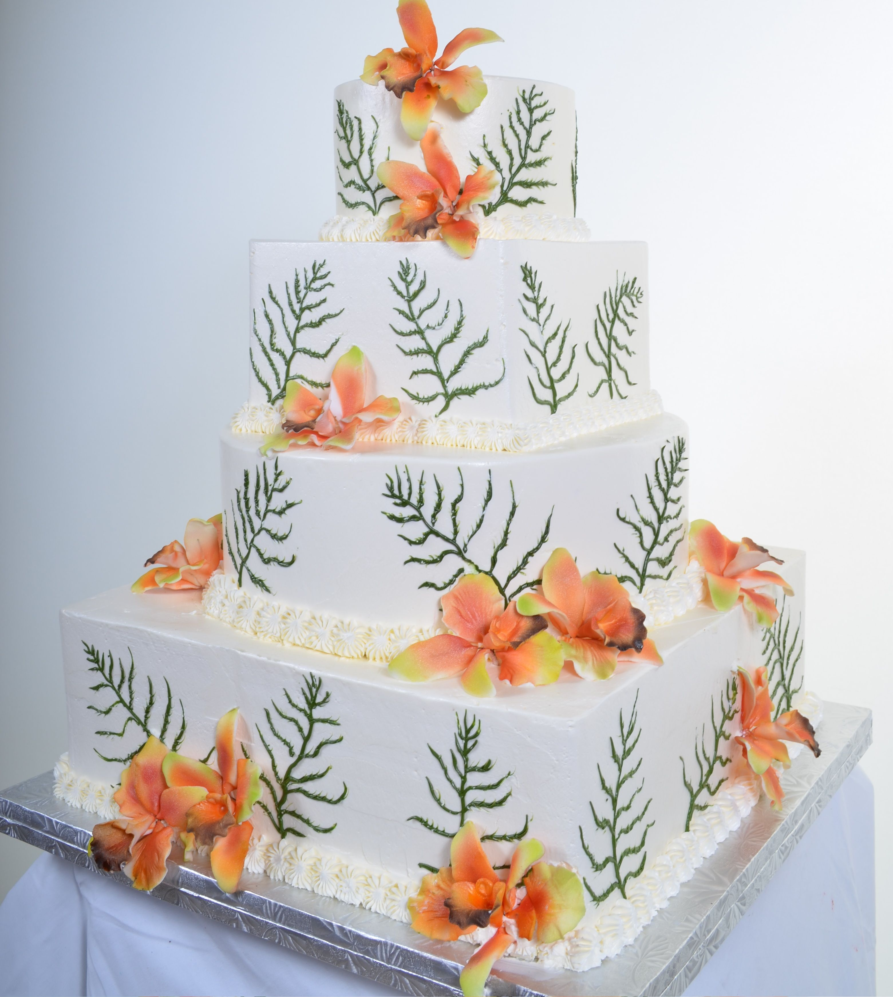 Orchids & Greens Vegas cake, Cupcake cakes, Las vegas