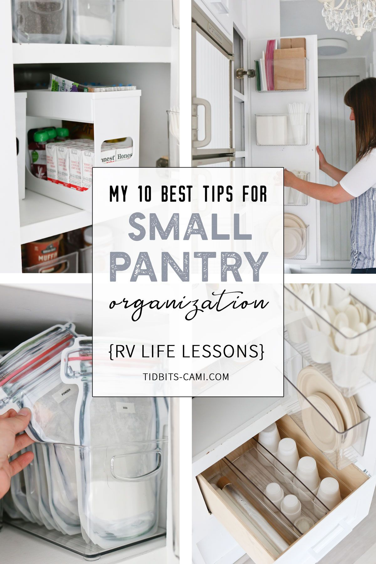 My 10 Best Tips for Small Pantry Organization | RV Life Lessons - Tidbits