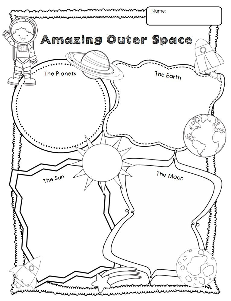 Outer Space Worksheets For Kids Free K5 Worksheets Worksheets For Kids,  Graphic Organizers, Space Activities For Kids