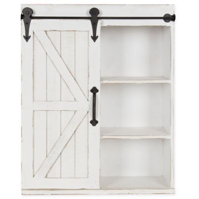 Kate And Laurel Storage Cabinet With Sliding Barn Door In Rustic Wall Storage Cabinets Interior Barn Doors Wall Storage