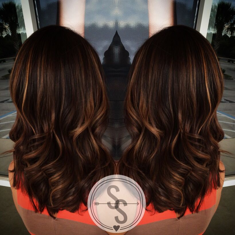 Caramel highlights with gorgeous rich brown base paulmitchell caramel highlights with gorgeous rich brown base paulmitchell caramelhighlights brownhair pmusecretfo Images