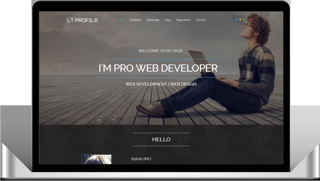 free onepage profile joomla template - Resume Cv Joomla Template