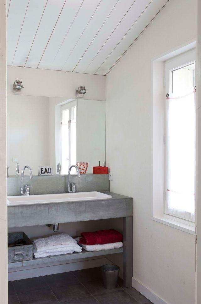 Salle de bain  déco zen et nature SDB / SDE / Buanderie Pinterest