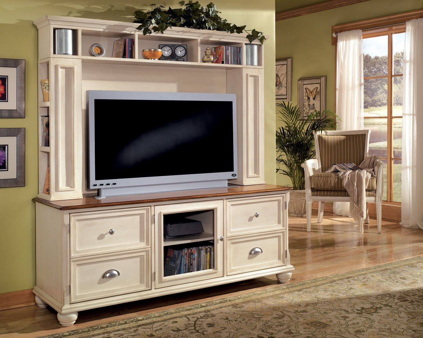furnitureandmore armoire fontana with solid garage hutch in pin tv spring sale pine doors broyhill for s