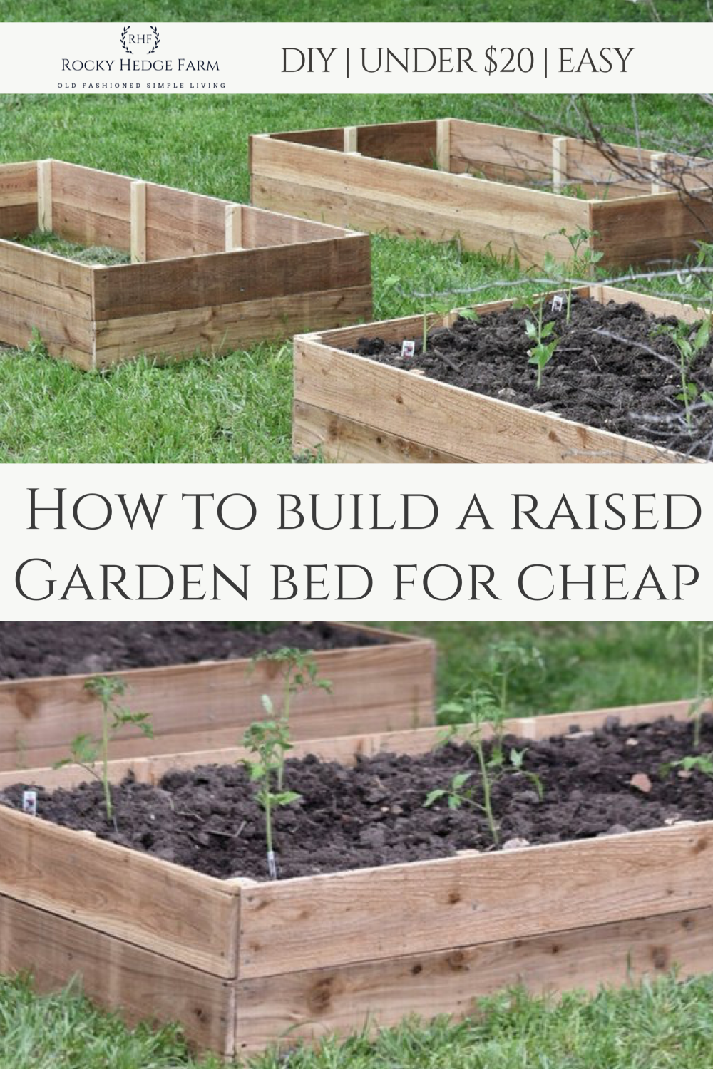 Learn how to build raised vegetable beds