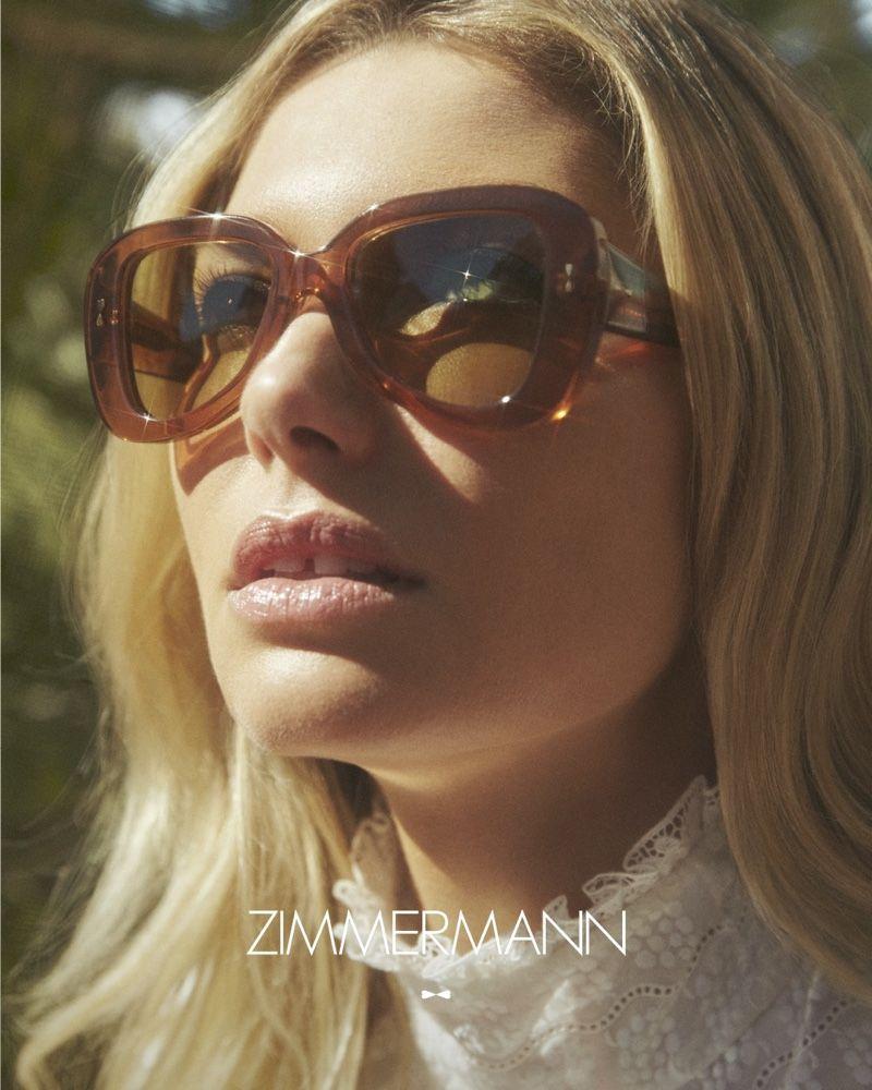 Jessica Hart Models Zimmermann S Debut Eyewear Collection Eyewear Campaign Sunglasses Women Designer Eyewear