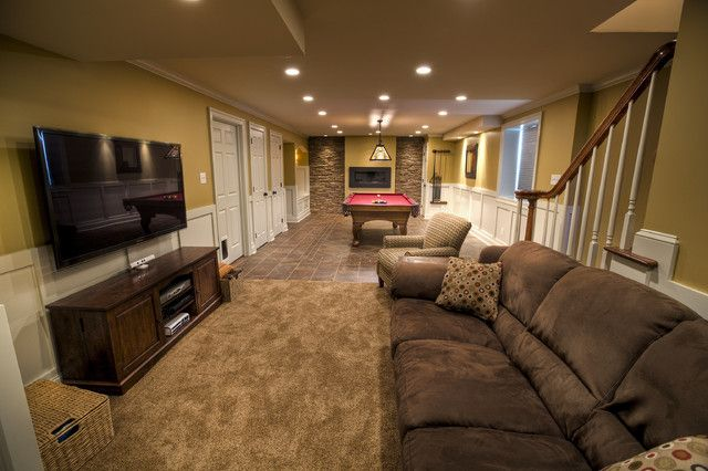 Billiards Room Traditional Basement Philadelphia By West