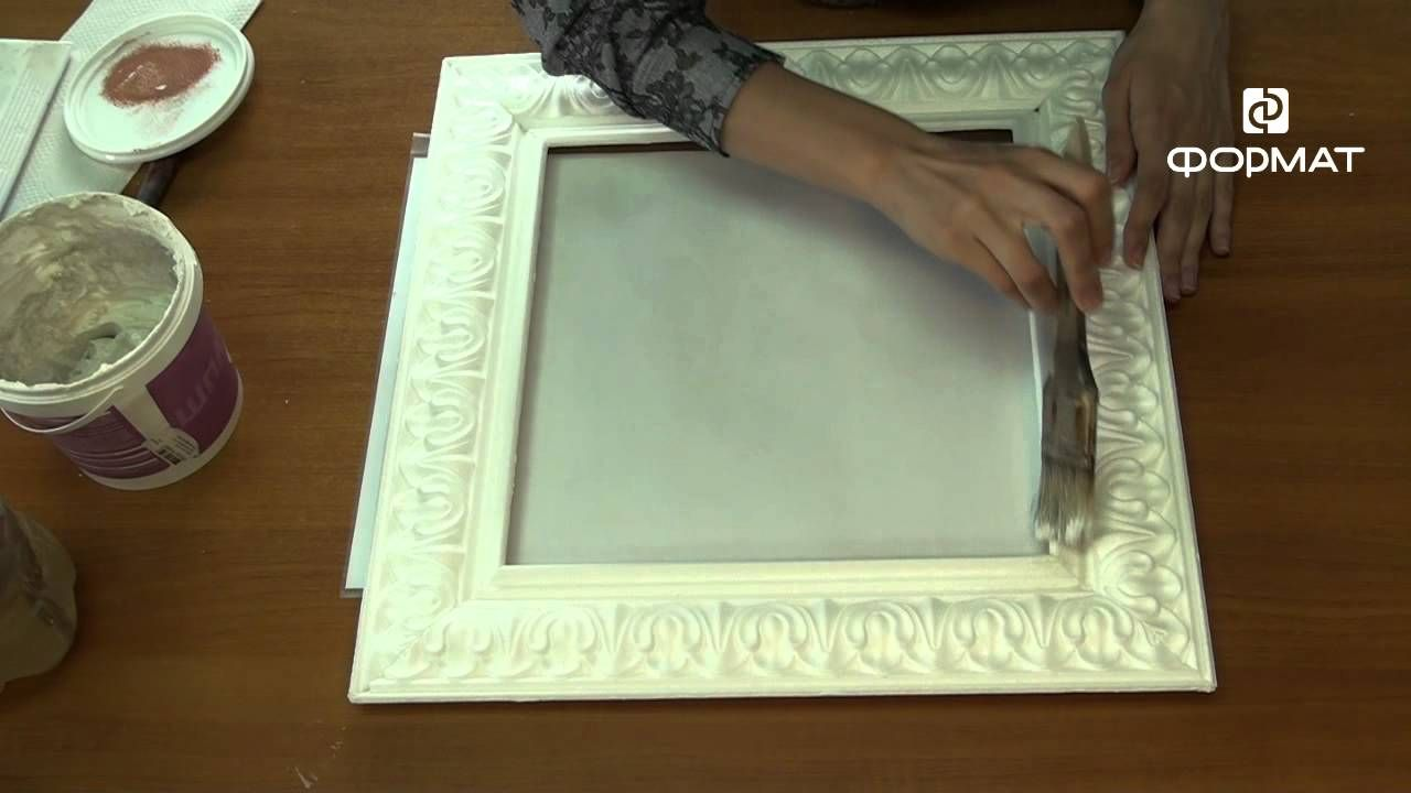 Как сделать рамку для зеркала своими руками. Фото