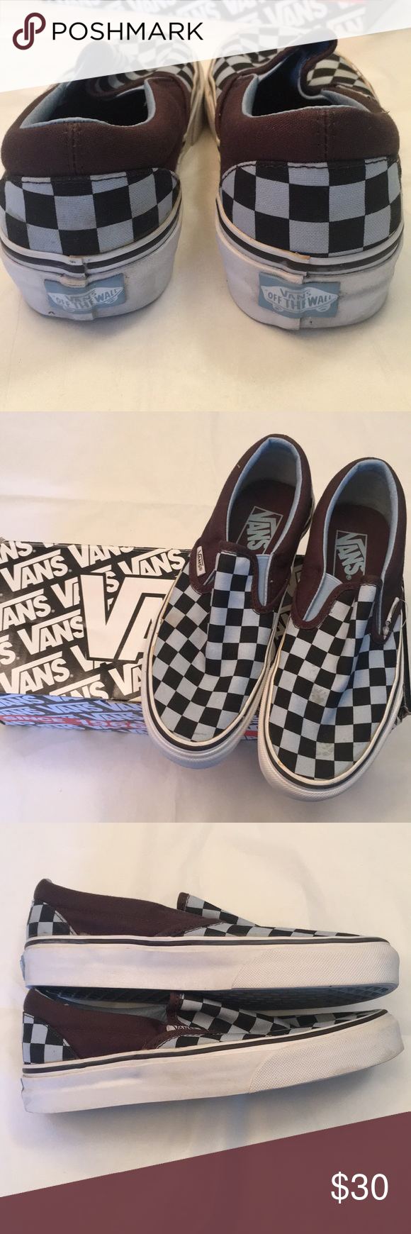 Vans baby blue and brown classic slip on | How to wear vans ...