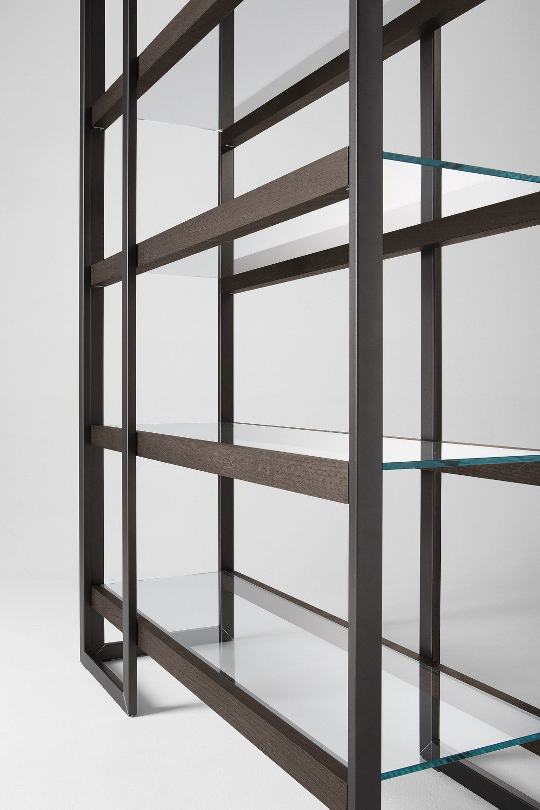 stainless steel bookcase dipsy gallottiradice - Steel Bookshelves