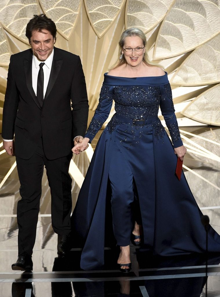 e02db0c0355 Meryl Streep in Elie Saab Couture at 2017 Oscars. (Source  AP ...