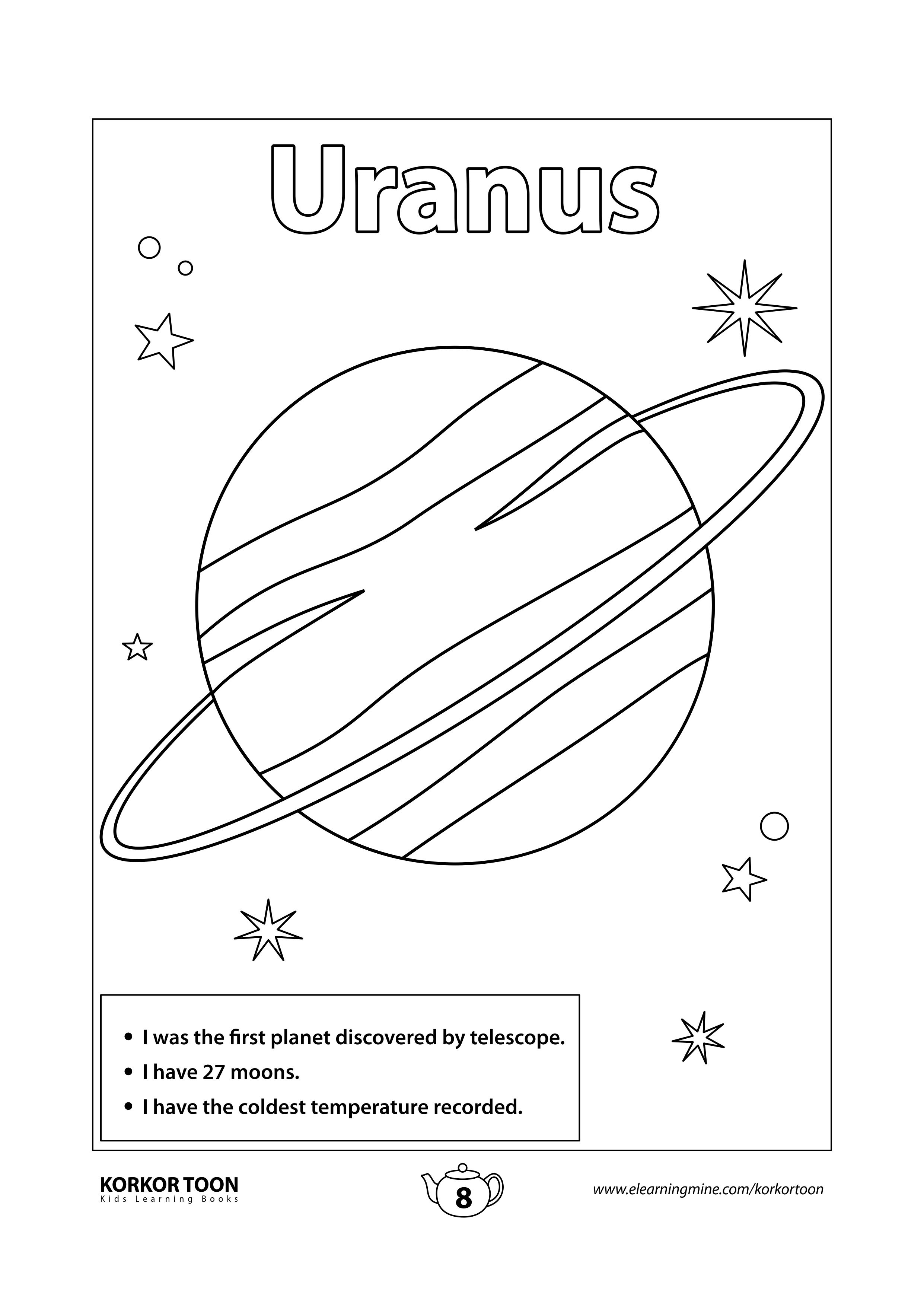 Solar System Coloring Book For Kids Uranus Page 8 Coloring Books Kids Coloring Books Printables Free Kids [ 3508 x 2482 Pixel ]