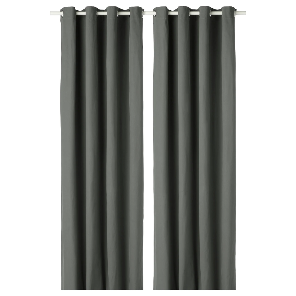 Ikea Merete Room Darkening Curtains 1 Pair Gray The Thick Curtains Darken The Room And Provide Privacy B Room Darkening Curtains Curtains Remodel Bedroom