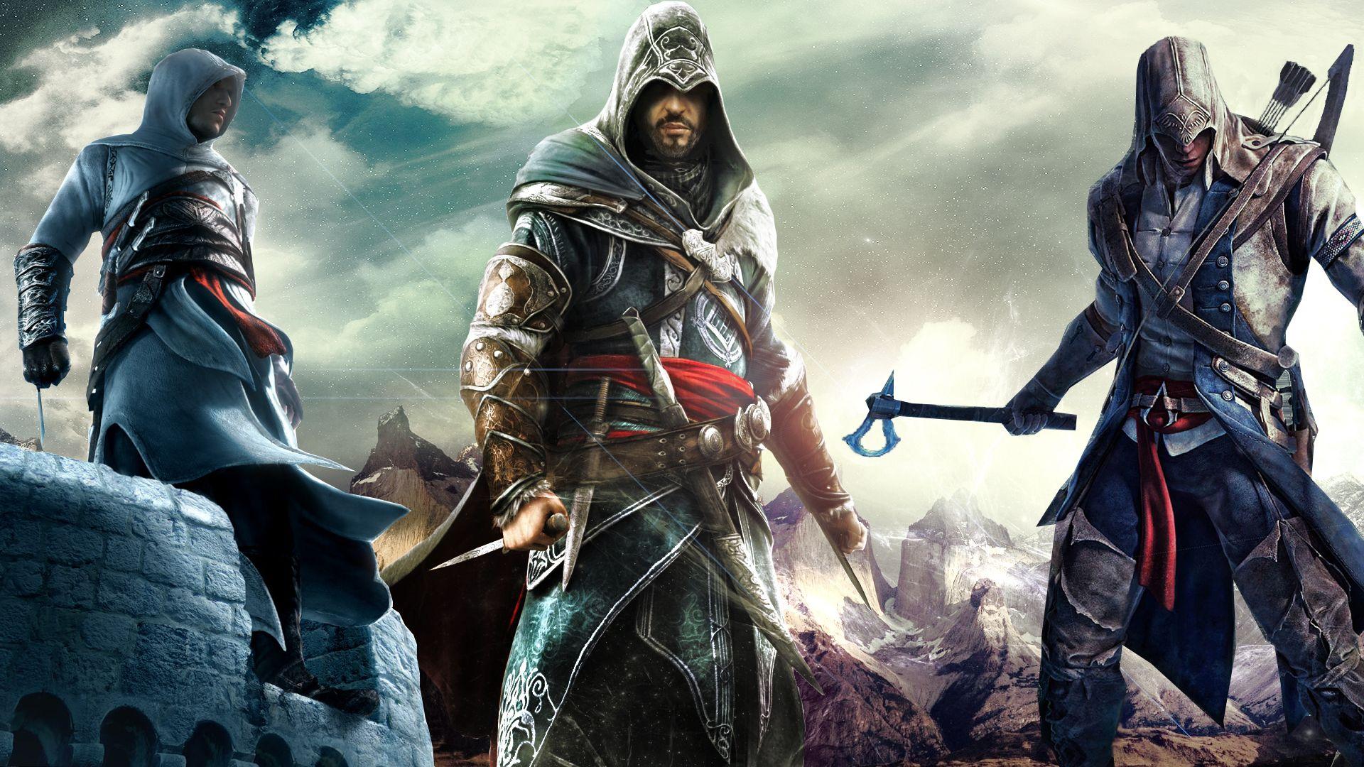 1920x1080 Wallpaper Assassins Creed 2 Desmond Miles Peoples City Arm Cloak Assassins Creed 2 Assassins Creed Ii Assassins Creed