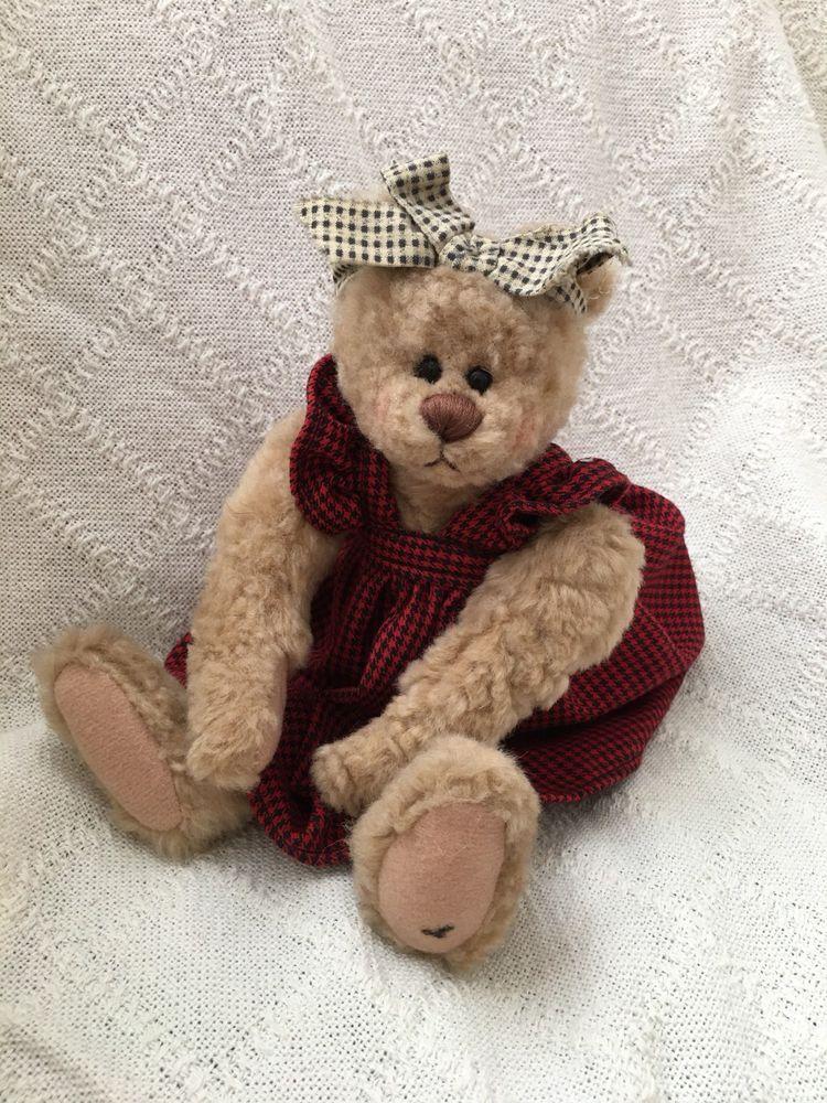 Ganz Mary Holstad Cottage Collectibles Teddy Bear Red Dress Ganz Teddy Bear Collection Teddy Bear Teddy