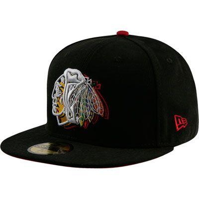 Chicago Blackhawks 59FIFTY NE Illusion Fitted Hat  b57d16556cbb