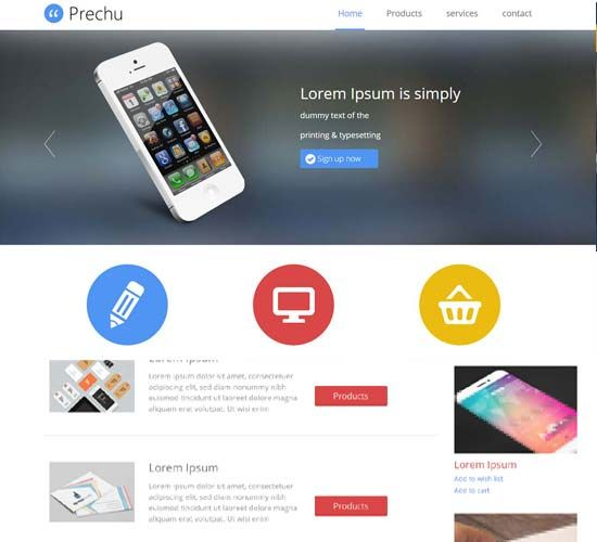 Mobile shopping responsive: Free website templates Download