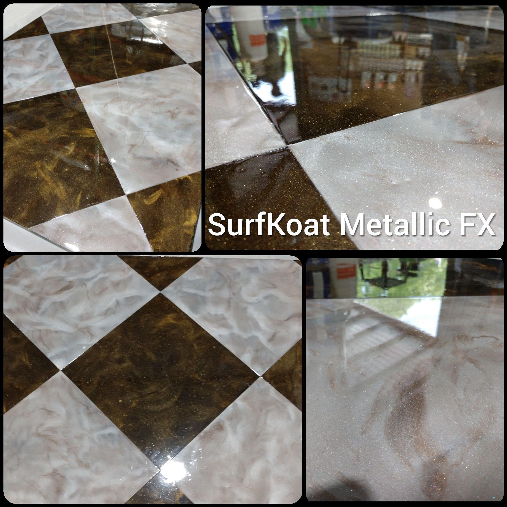 Checkerboard Metallic Epoxy Epoxy Floor Metallic Epoxy Floor Epoxy