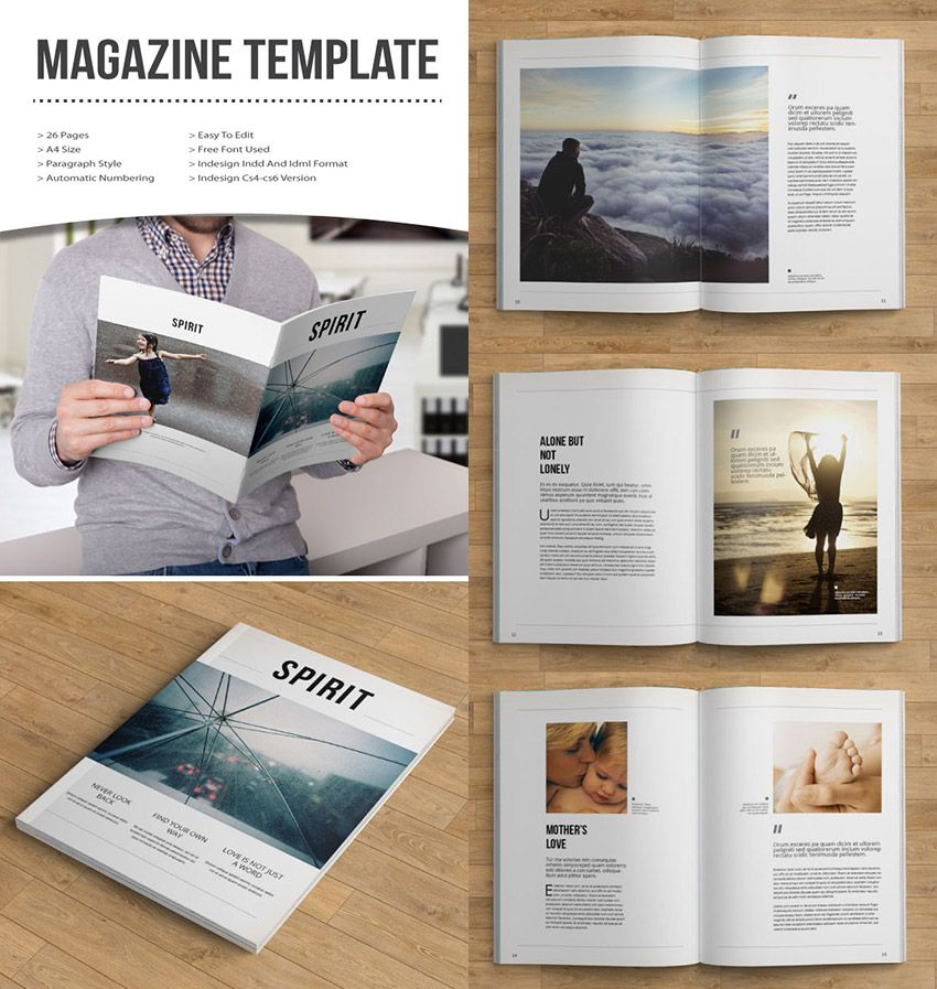Free Indesign Magazine Template Family: 30 Magazine Templates With Creative Print Layout Designs