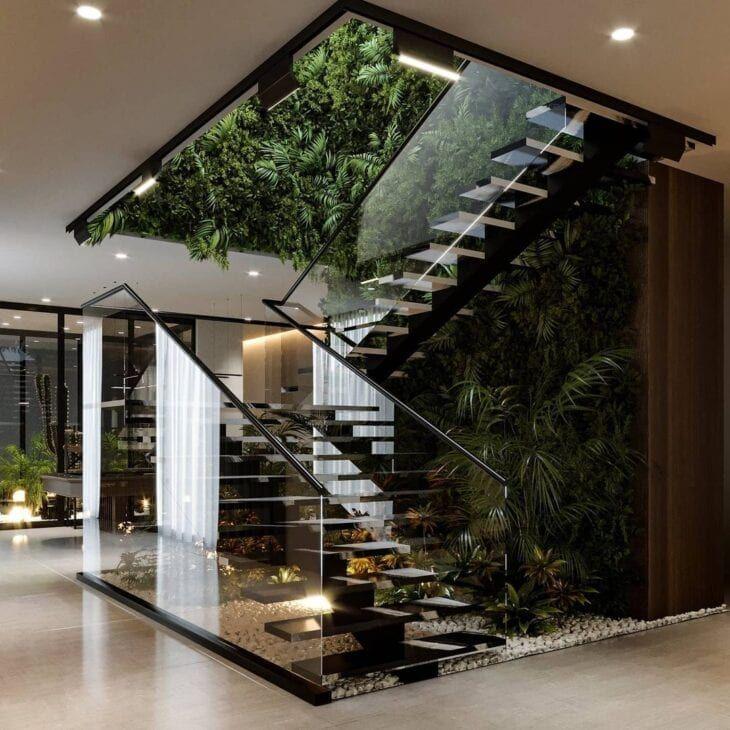 Jardim embaixo da escada: aprenda como fazer + 40 fotos