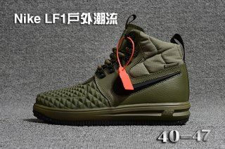 reputable site d5ce4 c763c Mens Nike Lunar Force 1 Duckboot 17 KPU Army Green Black 922807 701 Running  Shoes